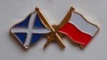 Scotland and Poland Friendship Flag Pin Badge